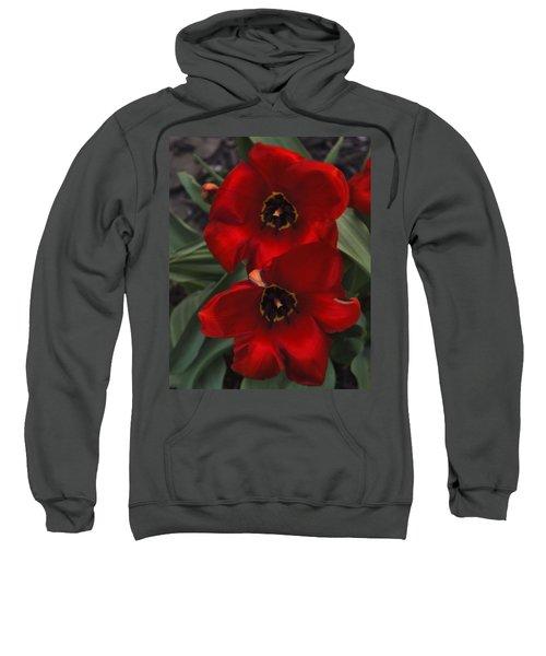 Red Tulip Pair Sweatshirt