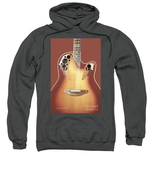 Redish-brown Guitar On Redish-brown Background Sweatshirt