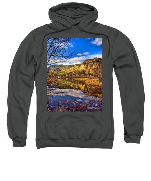 Reflections At Vaseux Lake Sweatshirt