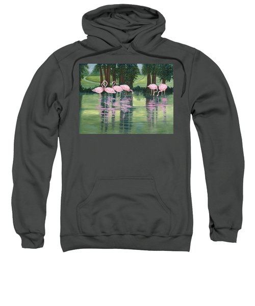 Reflections In Pink Sweatshirt