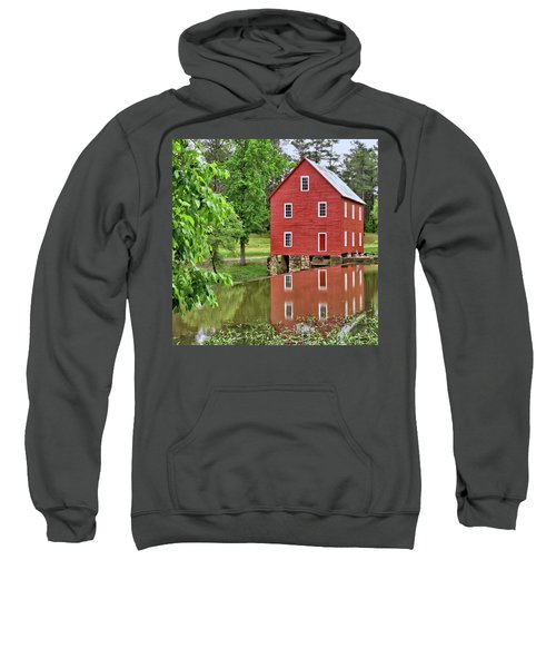 Reflections Of A Retired Grist Mill - Square Sweatshirt
