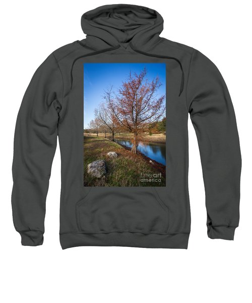 River And Winter Trees Sweatshirt