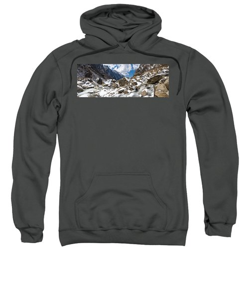 River Flowing Through Rocks, Modi Khola Sweatshirt