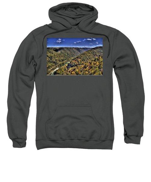 River Running Through A Valley Sweatshirt by Jonny D