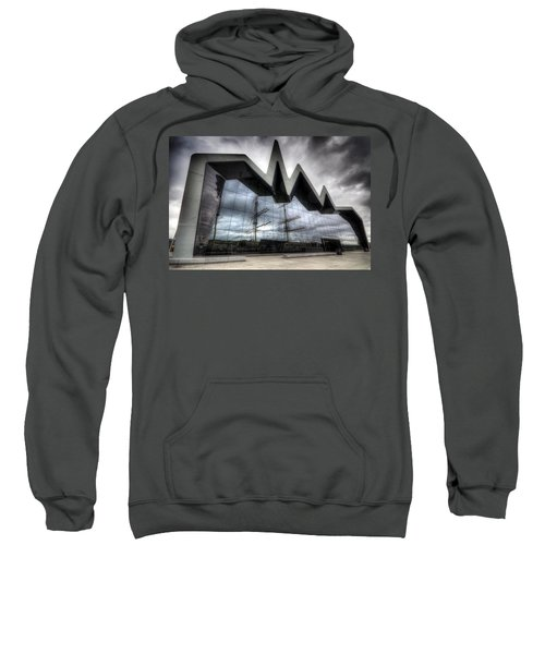 Sweatshirt featuring the photograph Riverside Museum by Ross G Strachan