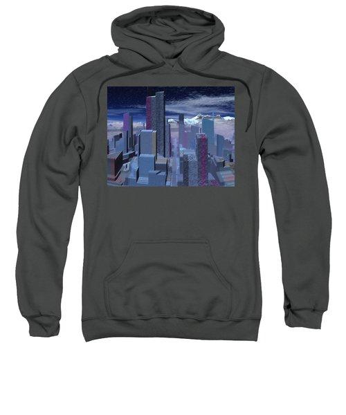Sweatshirt featuring the digital art Road To Nowhere by Judi Suni Hall