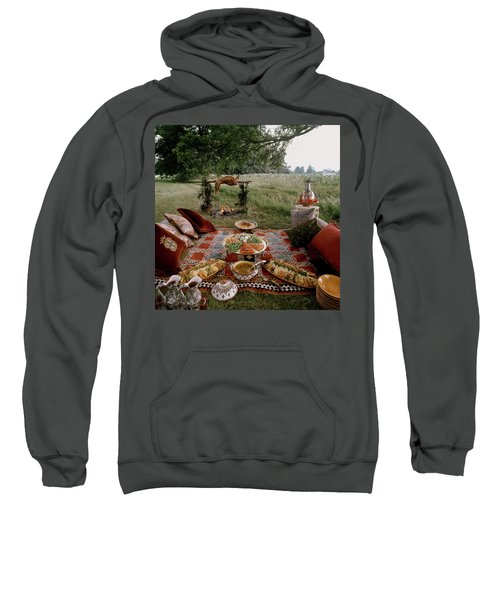 Robert Carrier's Moroccan Picnic In A Field Sweatshirt