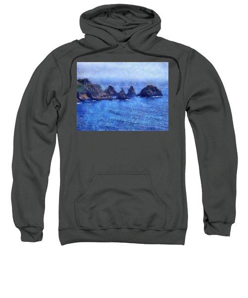 Rocks On Isle Of Guernsey Sweatshirt