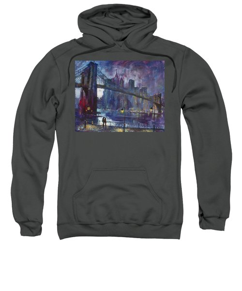 Romance By East River Nyc Sweatshirt by Ylli Haruni