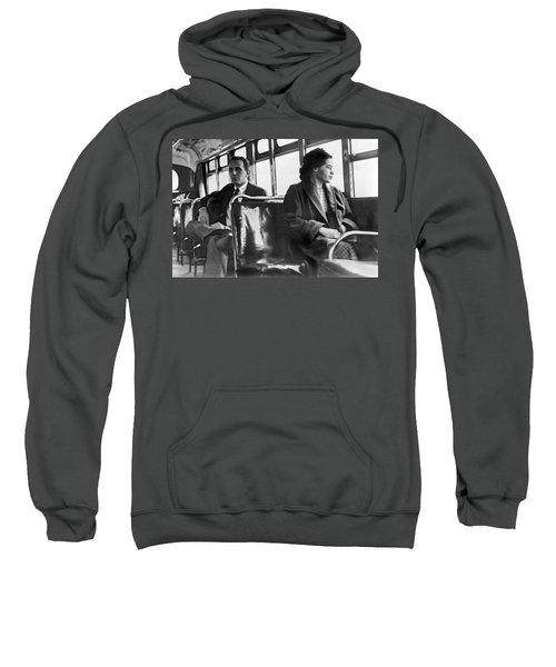 Rosa Parks On Bus Sweatshirt