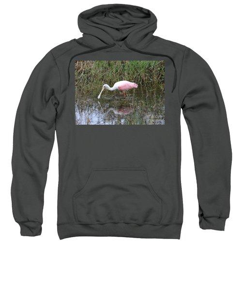 Roseate Spoonbill Reflection Sweatshirt by Carol Groenen