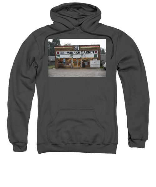 Sweatshirt featuring the photograph Route 66 - Wrink's Market by Frank Romeo