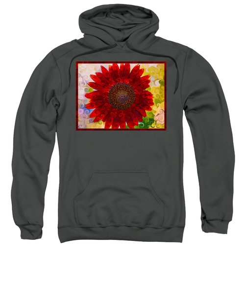 Royal Red Sunflower Sweatshirt
