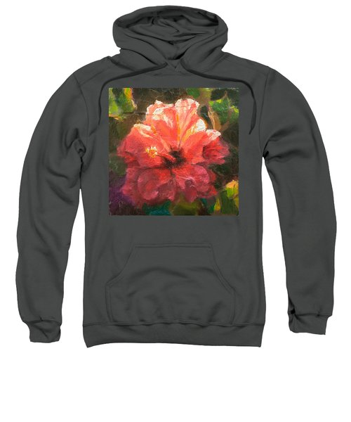 Ruffled Light Double Hibiscus Flower Sweatshirt