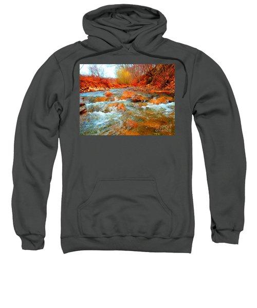 Running Creek 2 By Christopher Shellhammer Sweatshirt