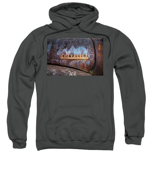 Rusty Chevrolet - Nameplate - Old Chevy Sign Sweatshirt