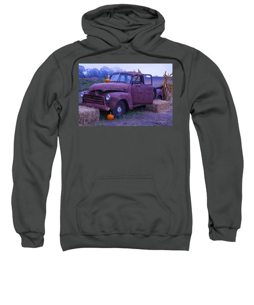 Rusty Truck With Pumpkins Sweatshirt