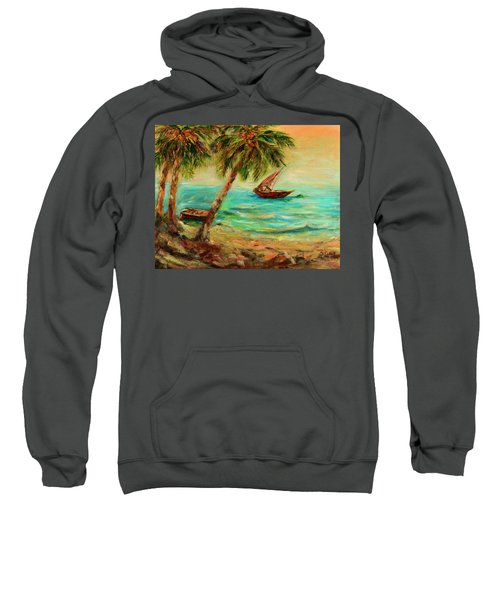 Sail Boats On Indian Ocean  Sweatshirt