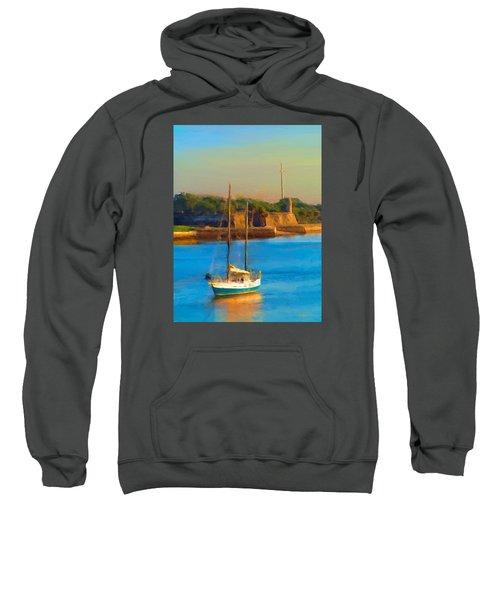 Da147 Sailboat By Daniel Adams Sweatshirt