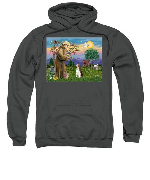 Saint Francis Blesses A Beagle Sweatshirt
