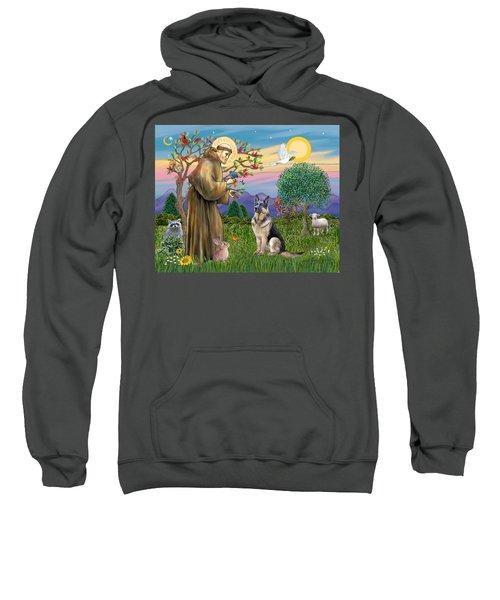 Saint Francis Blesses A German Shepherd Sweatshirt