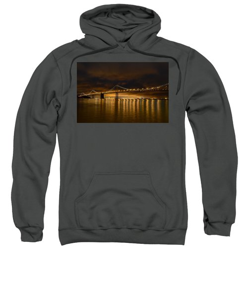 San Francisco - Bay Bridge At Night Sweatshirt