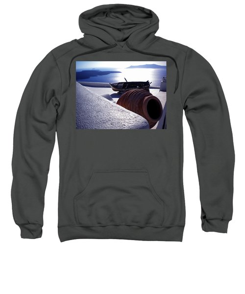 Santorini Island Early Sunset View Greece Sweatshirt