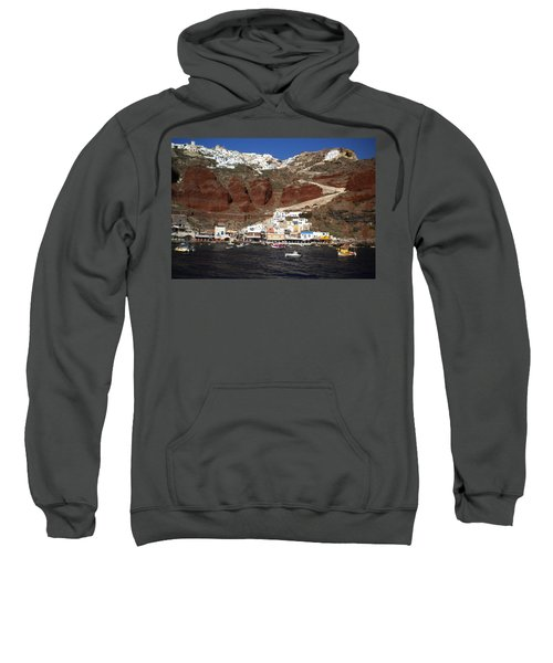 Santorini  Island  View To Oia Greece Sweatshirt