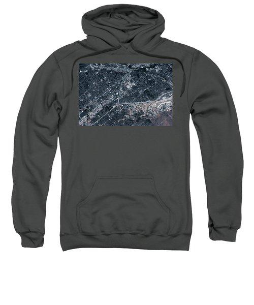 Satellite View Of Boise, Idaho, Usa Sweatshirt