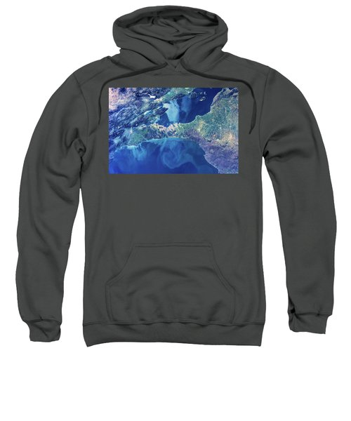 Satellite View Of Istanbul With Sea Sweatshirt