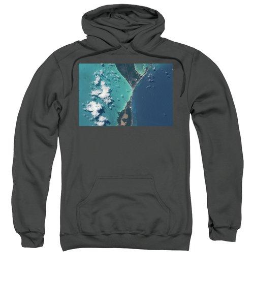 Satellite View Of North Eleuthera Sweatshirt