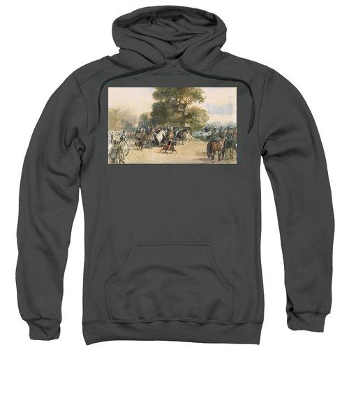 Scene In Hyde Park Sweatshirt by Eugene-Louis Lami