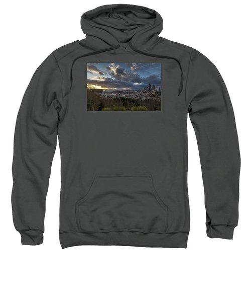 Seattle Dramatic Dusk Sweatshirt by Mike Reid
