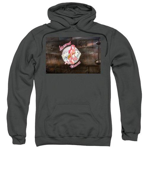 Second Chance - Aircraft Nose Art - Pinup Girl Sweatshirt
