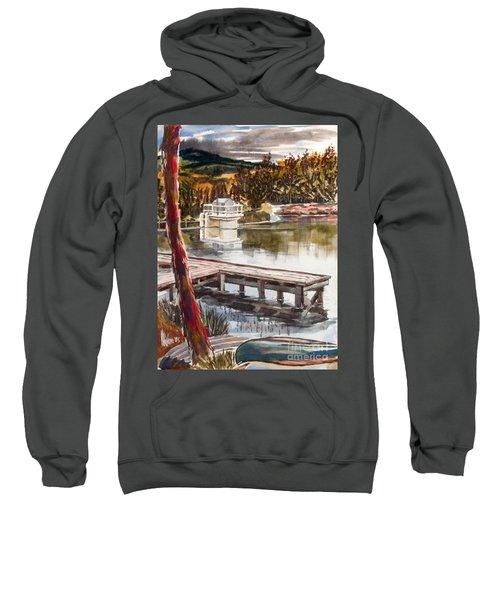 Shepherd Mountain Lake In Twilight Sweatshirt