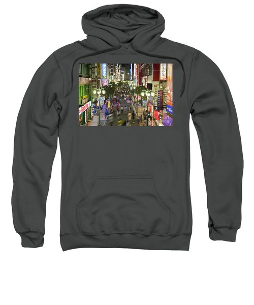 Shinjuku Street Scene At Night Sweatshirt