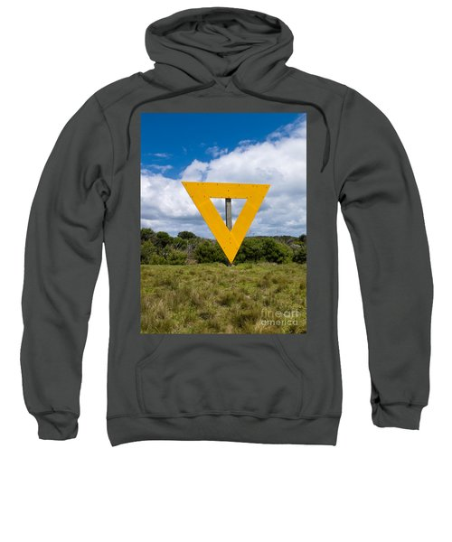 Shipping Navigation Yellow Triangle Sign On Land Sweatshirt