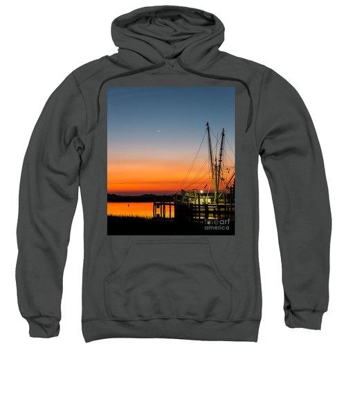 Shrimp Boat At Dusk Folly Beach Sweatshirt