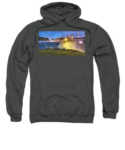 Silky Niagara Falls Panoramic Sunset Sweatshirt