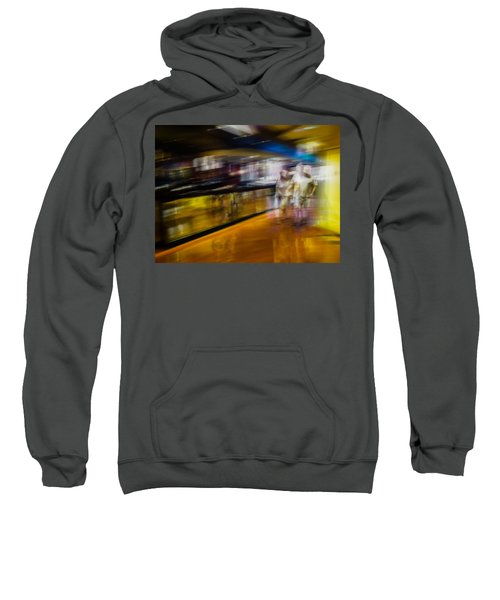 Sweatshirt featuring the photograph Silver People In A Golden World by Alex Lapidus