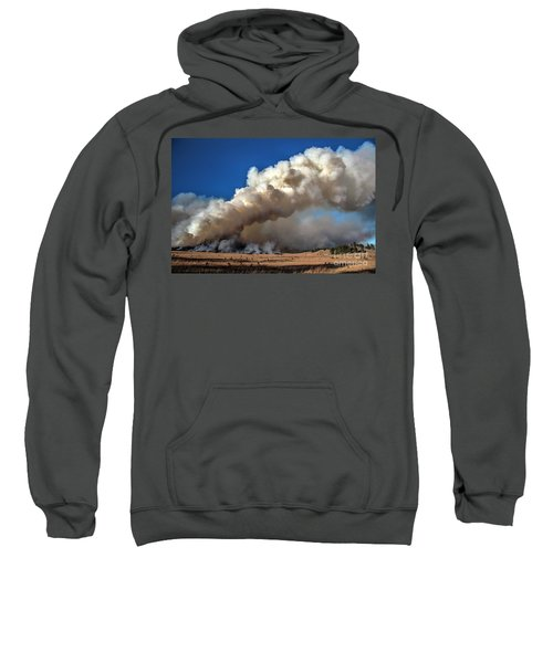 Smoke Column From The Norbeck Prescribed Fire. Sweatshirt