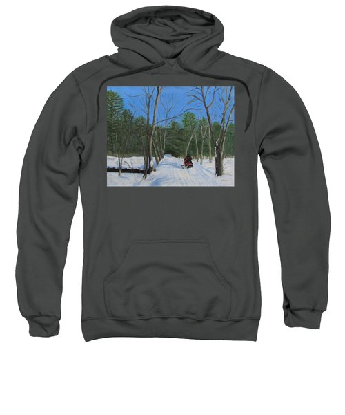 Snowmobile On Trail Sweatshirt