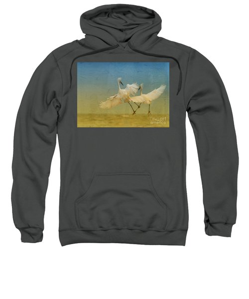Snowy Egret Dance Sweatshirt