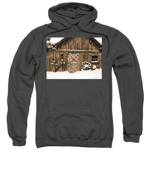 Snowy Old Barn Sweatshirt