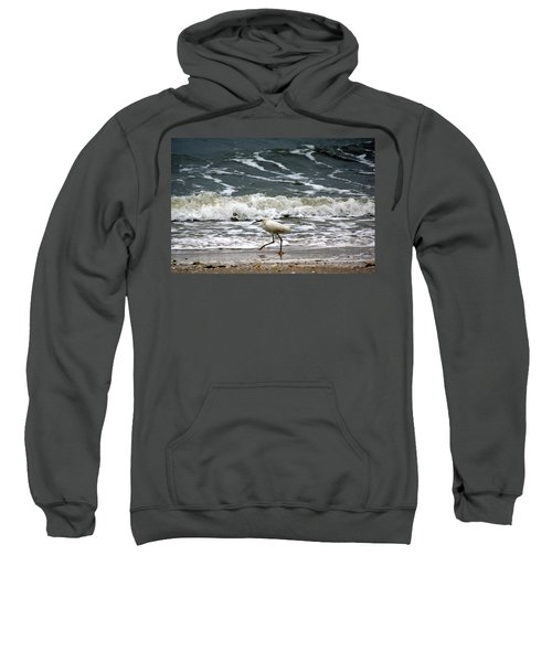 Sweatshirt featuring the photograph Snowy White Egret by Kim Pate