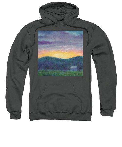 Blue Yellow Nocturne Solitary Landscape Sweatshirt
