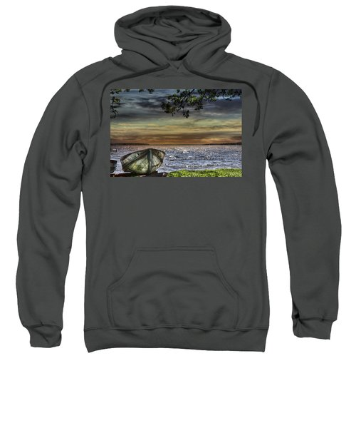 South Manistique Lake With Rowboat Sweatshirt