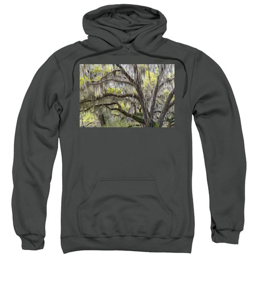 Southern Live Oak With Spanish Moss Sweatshirt