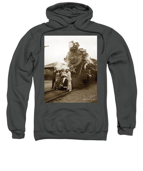 S P Baldwin Locomotive 2285  Class T-26 Ten Wheel Steam Locomotive At Pacific Grove California 1910 Sweatshirt