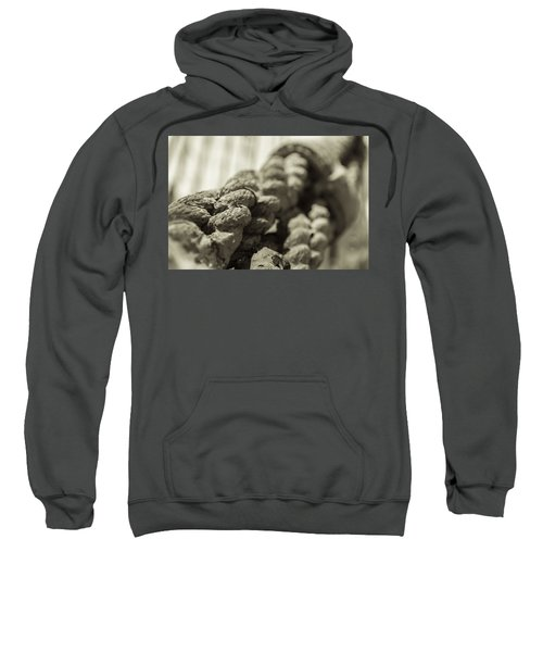 Spliced And Bound Black And White Sepia Sweatshirt